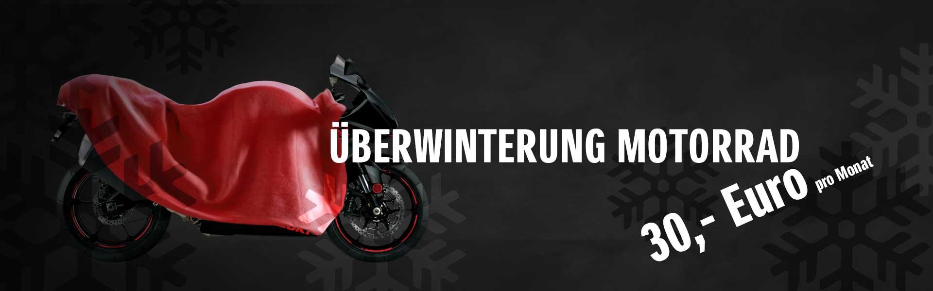 Motorrad sicher und trocken überwintern!